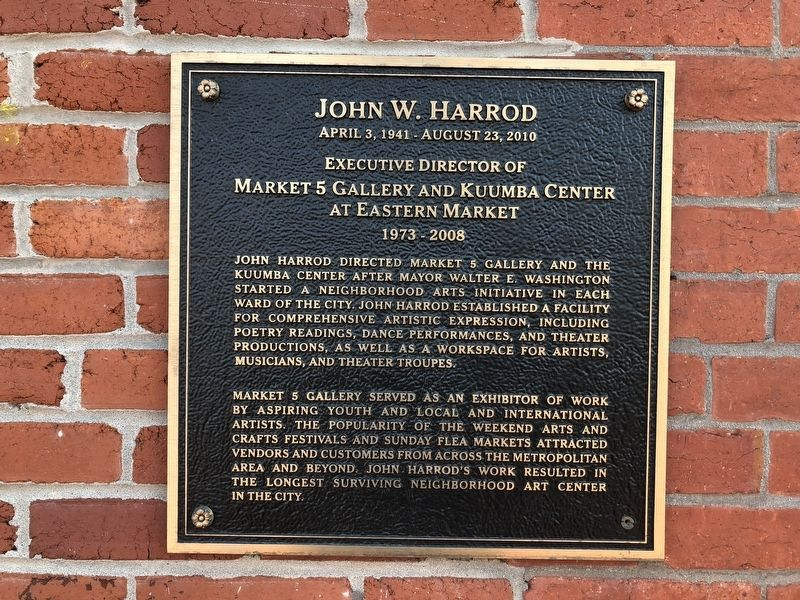 John W. Harrod Marker image. Click for full size.