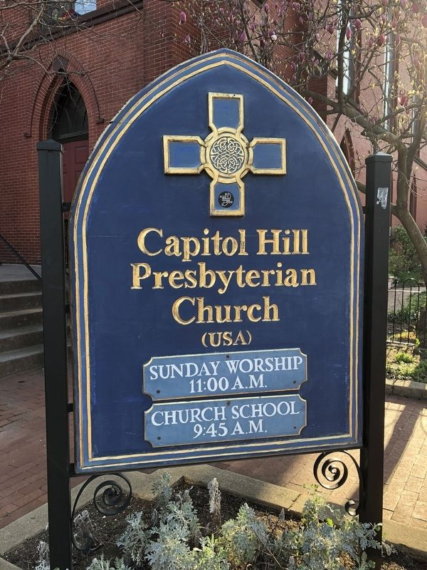 Capitol Hill Presbyterian Church Sign image. Click for full size.