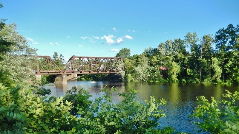 Railroad Trestle across Sebasticook River (<i>south side of park</i>) image. Click for full size.