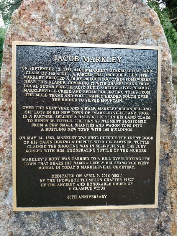 Jacob Markley Marker image. Click for full size.