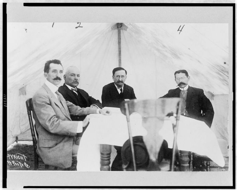 José María Pino Suárez and Francisco I. Madero, together with Gómez and Carbajal image. Click for full size.
