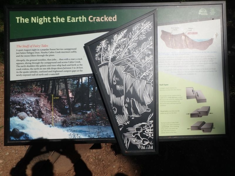 The Night the Earth Cracked Marker image. Click for full size.
