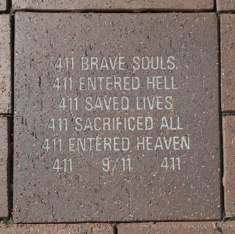 9/11 NYC Emergency Responders' Memorial Paver image. Click for full size.
