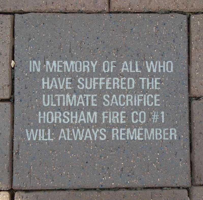 9/11 NYC Emergency Responders' Memorial Fire Dept Memorial Paver image. Click for full size.