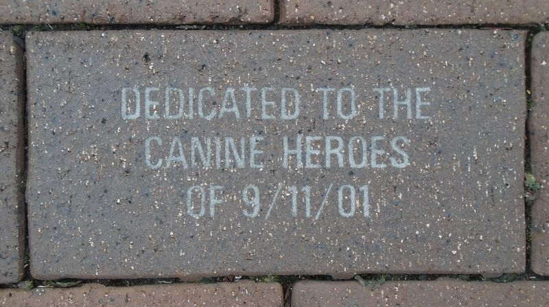 9/11 NYC Emergency Responders' Memorial Canine Heroes Paver image. Click for full size.
