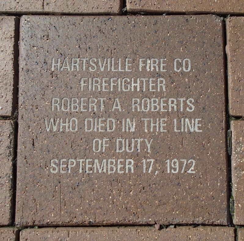 9/11 NYC Emergency Responders' Memorial Hartsville FD Memorial Paver image. Click for full size.