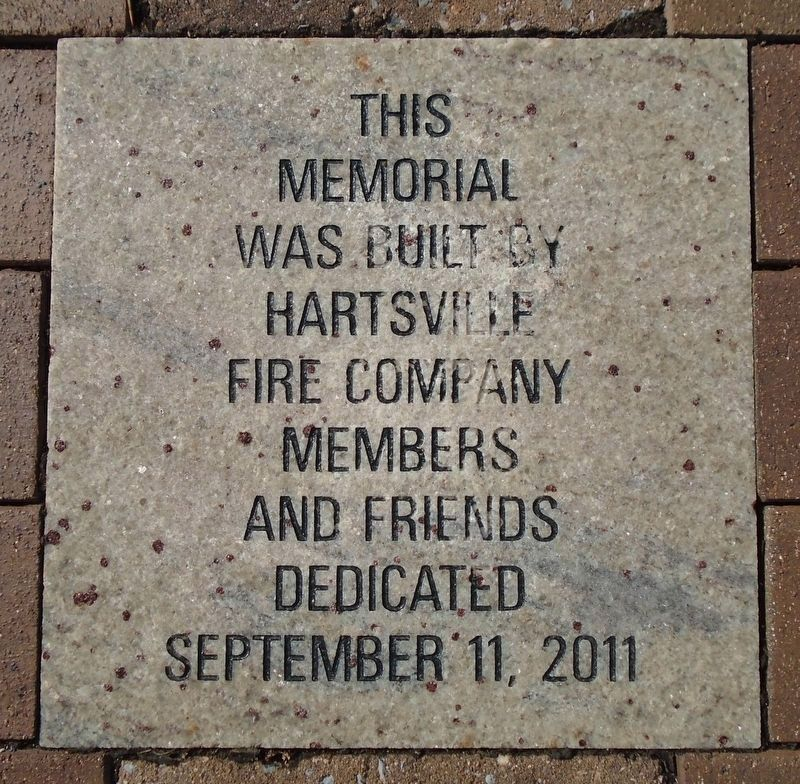 9/11 NYC Emergency Responders' Memorial Hartsville FD Dedication Paver image. Click for full size.