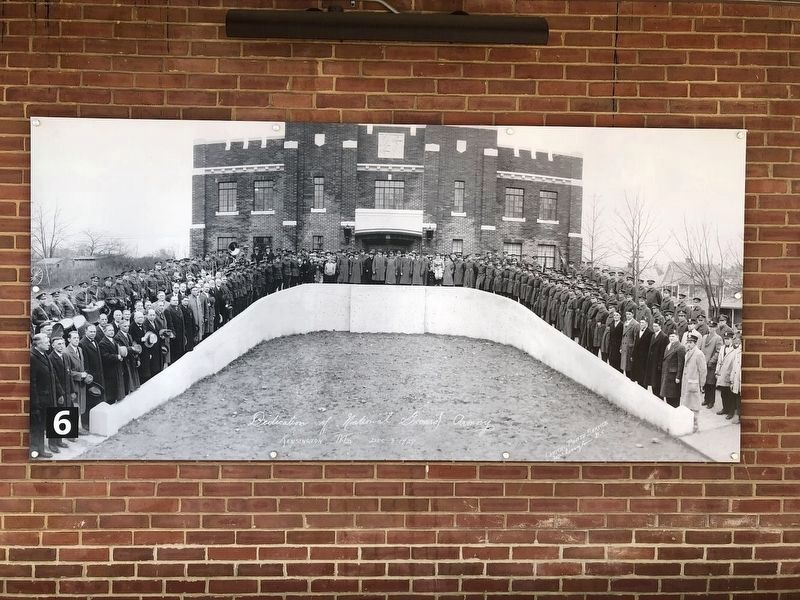 Dedication of the National Guard Armory image. Click for full size.