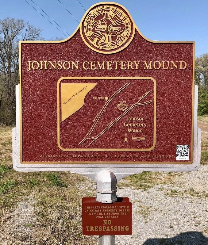 Rear of marker showing the layout of the mound. image. Click for full size.
