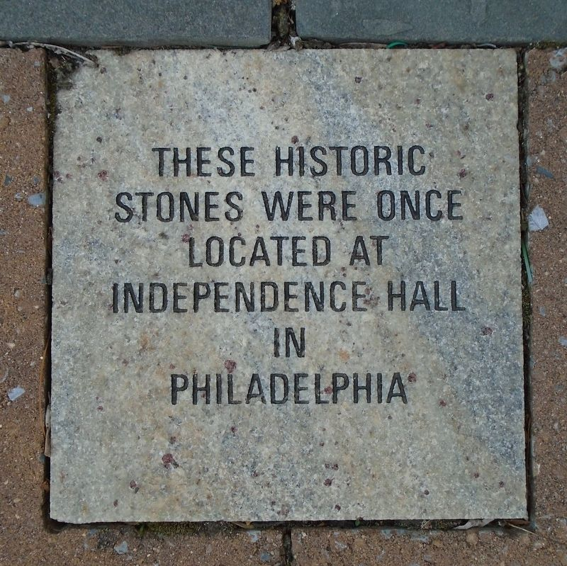Independence Hall Stones Marker image. Click for full size.