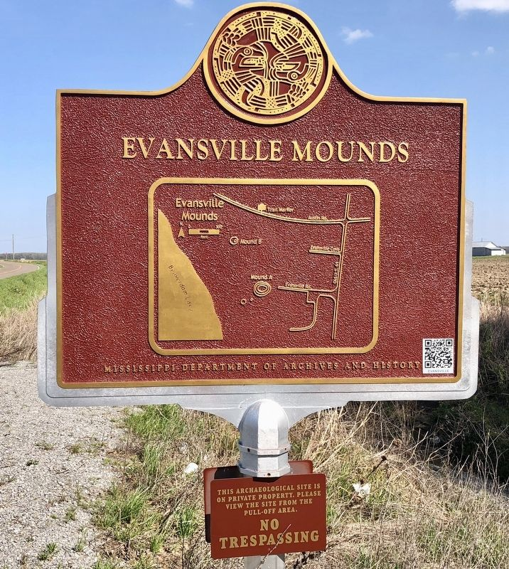 Rear of marker showing the layout of the mounds. image. Click for full size.