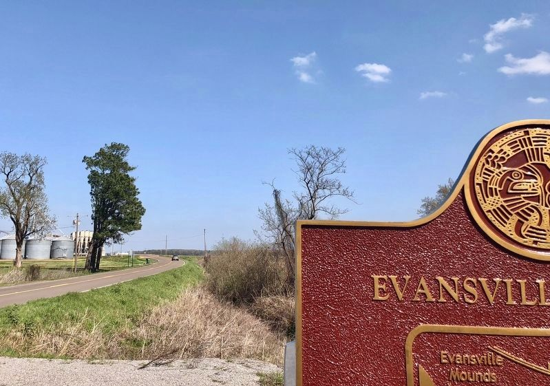 View from marker east towards Old U.S. Highway 61 image. Click for full size.