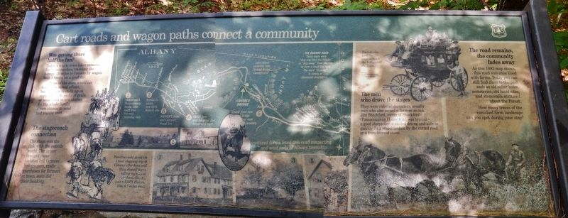Cart Roads and Wagon Paths Connect a Community Marker image. Click for full size.