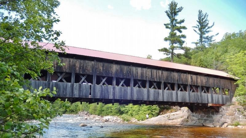 Albany Covered Bridge (<i>near marker; river view</i>) image. Click for full size.