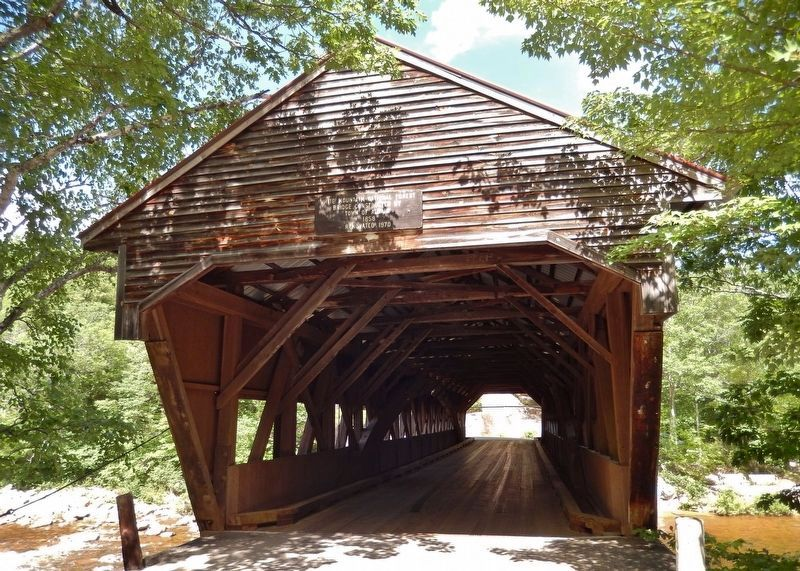 Albany Covered Bridge (<i>near marker; front view</i>) image. Click for full size.