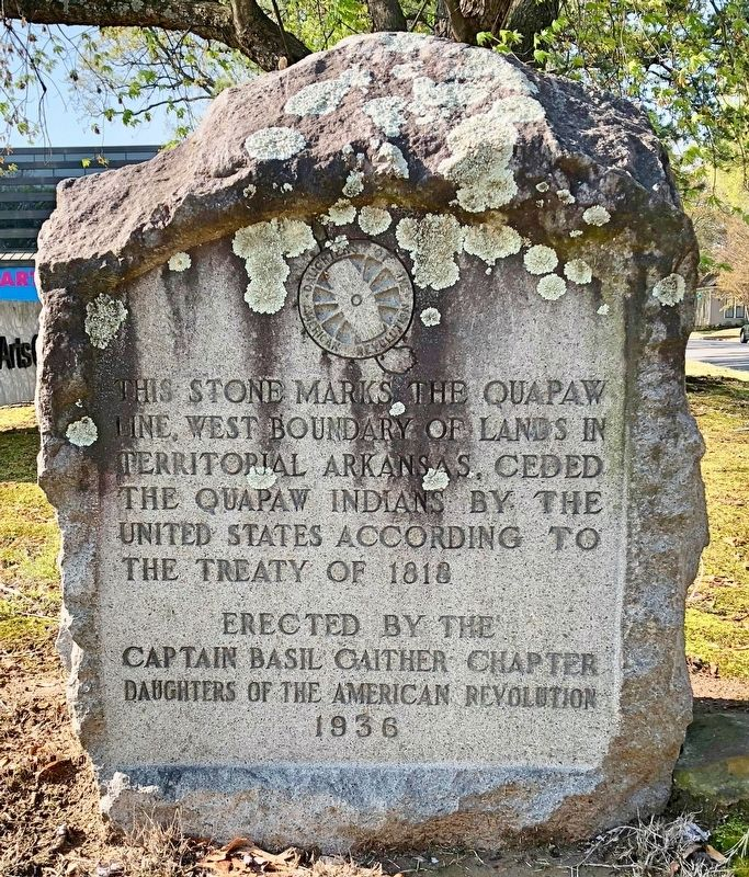 The Quapaw Line stone. image. Click for full size.