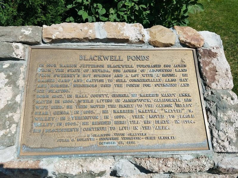 Blackwell Ponds Marker image. Click for full size.
