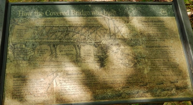 How the Covered Bridge was Built Marker image. Click for full size.
