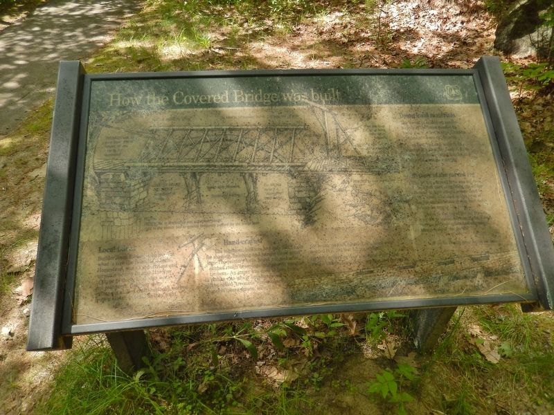 How the Covered Bridge was Built Marker (<i>wide view</i>) image. Click for full size.