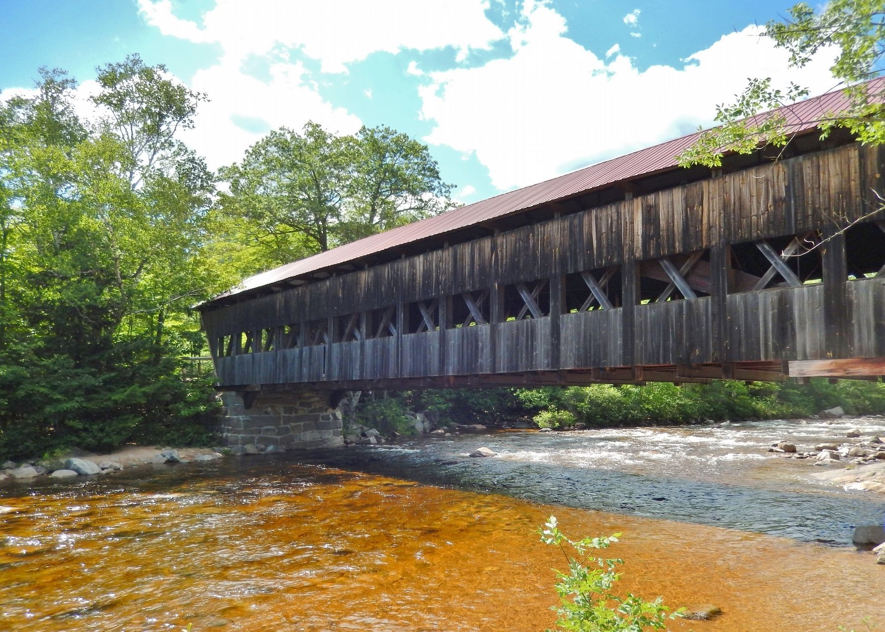 Albany Covered Bridge (<i>view fron near marker</i>) image. Click for full size.