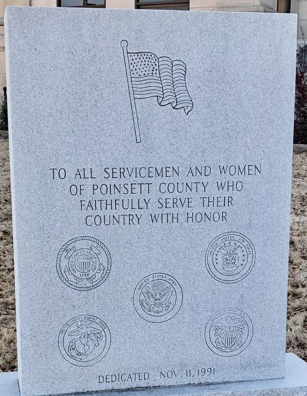 Poinsett County Military Monument image. Click for full size.