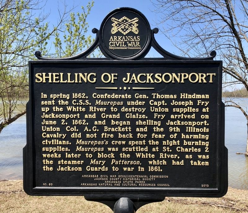 Shelling of Jacksonport Marker image. Click for full size.
