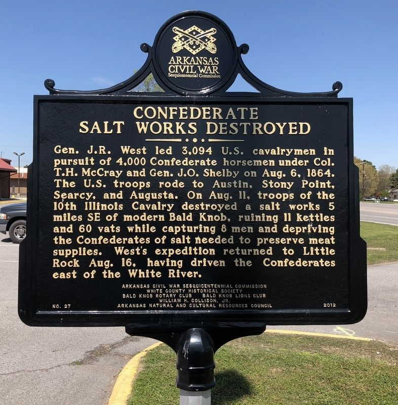 Confederate Salt Works Destroyed Marker image. Click for full size.