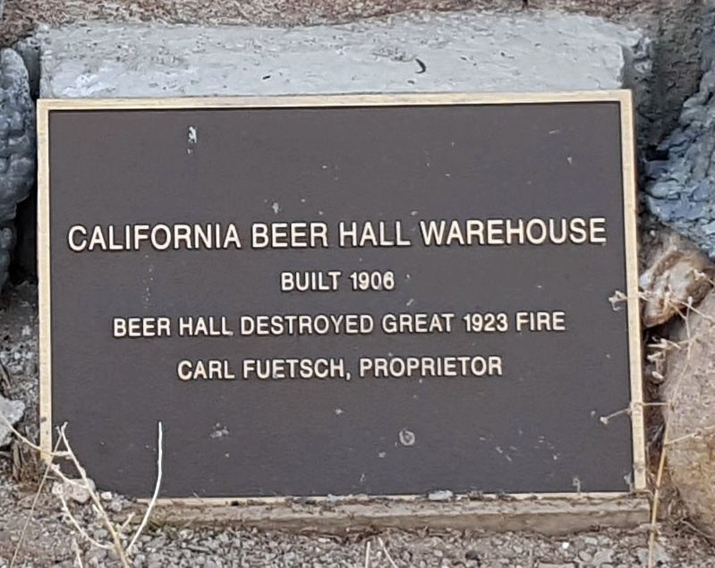 California Beer Hall Warehouse Marker image. Click for full size.