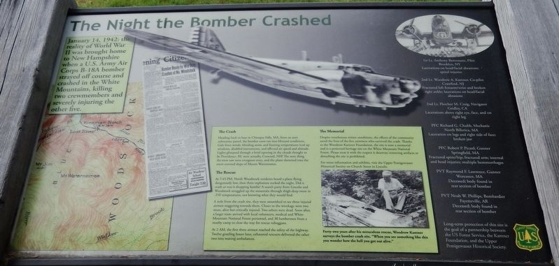 The Night the Bomber Crashed Marker image. Click for full size.