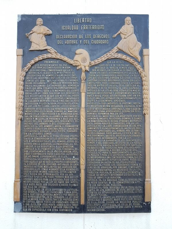 The Declaration of the Rights of Man and of the Citizen Marker image. Click for full size.