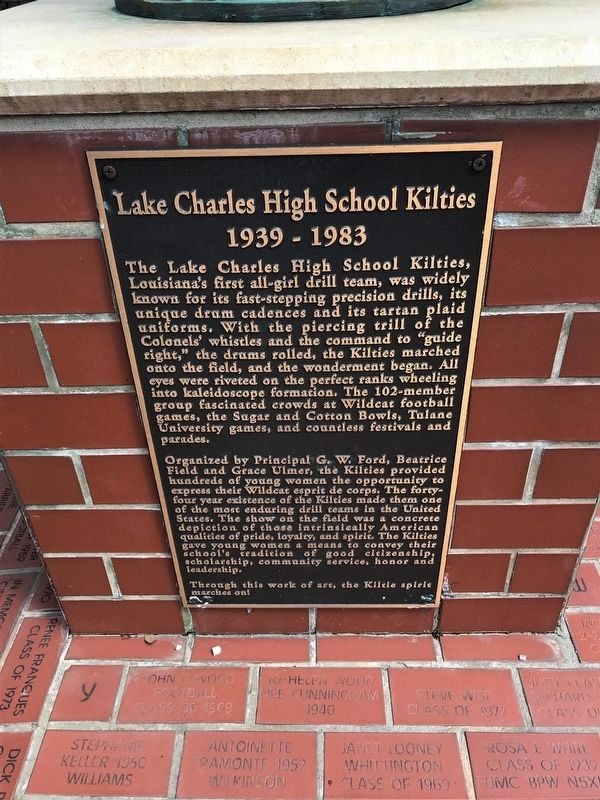 Lake Charles High School Kilties Marker image. Click for full size.