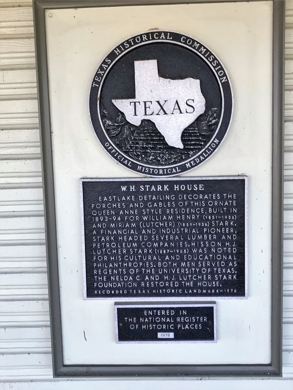 W.H. Stark House Marker image. Click for full size.