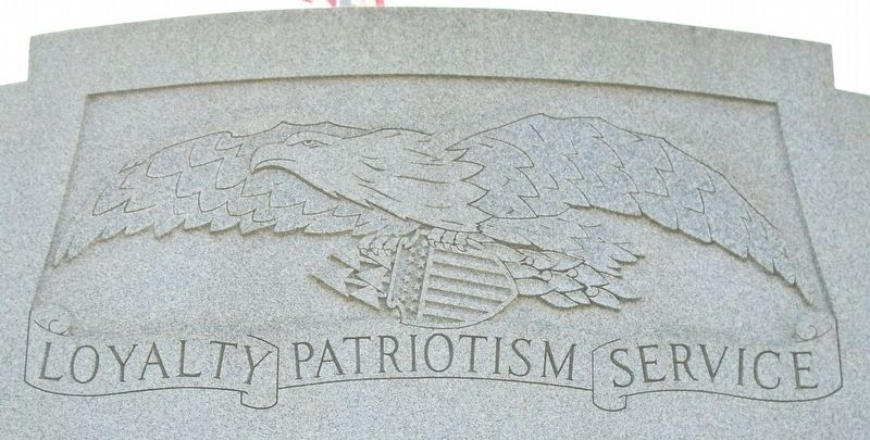 World Wars Memorial Motto image. Click for full size.