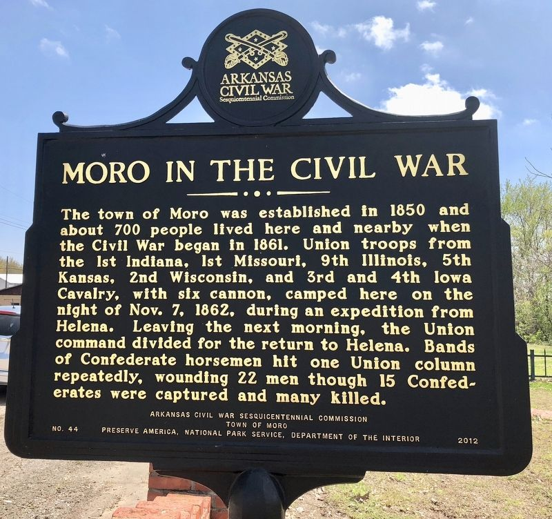 Moro in the Civil War Marker image. Click for full size.