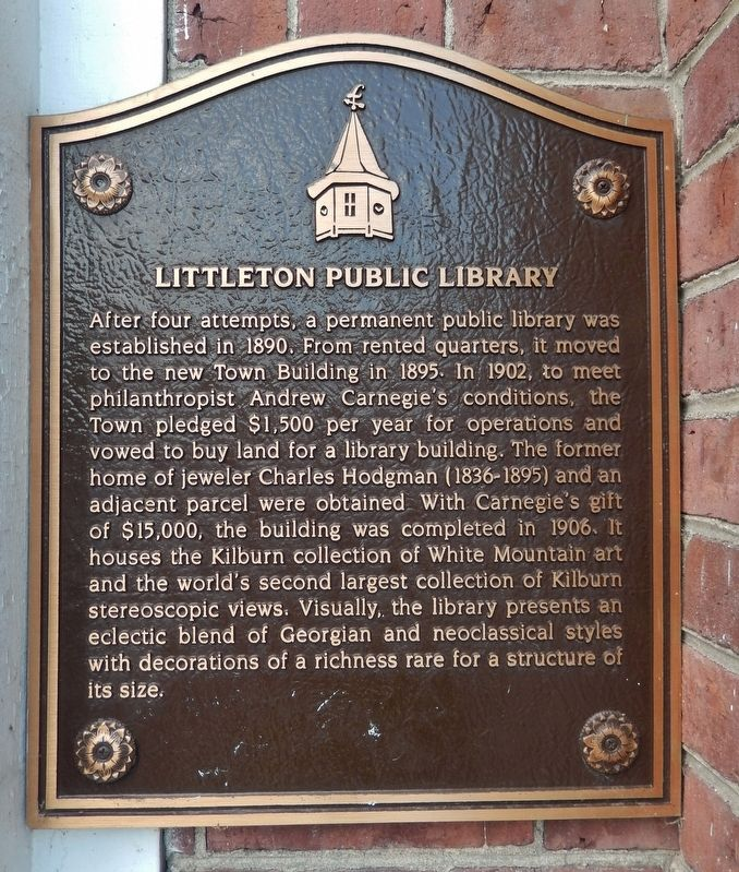 Littleton Public Library Marker image. Click for full size.
