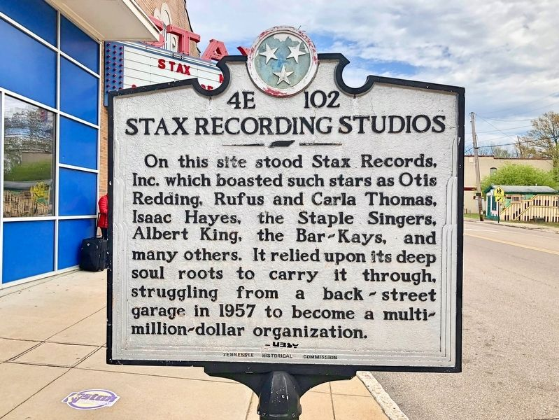 Stax Recording Studios Marker image. Click for full size.