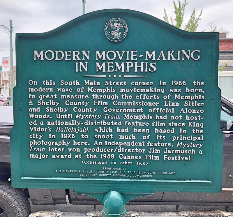 Modern Movie Making In Memphis Marker (front) image. Click for full size.