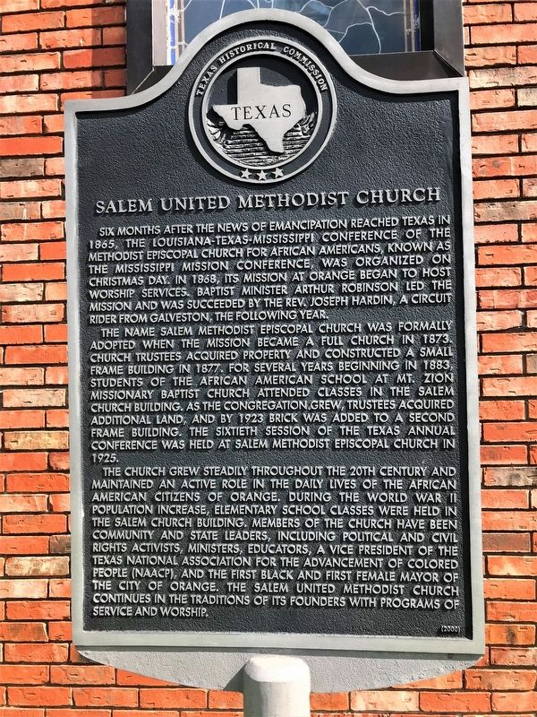 Salem United Methodist Church Marker image. Click for full size.