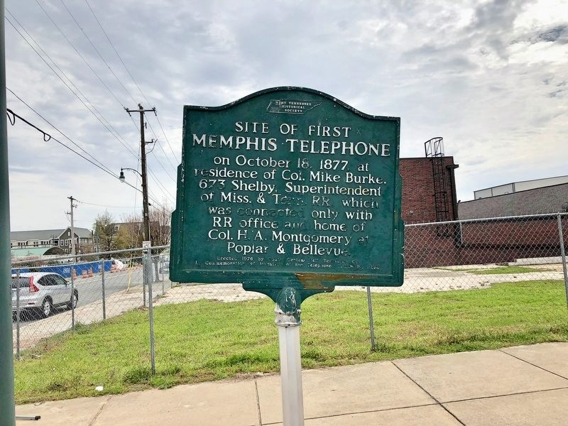 Site of First Memphis Telephone area. image. Click for full size.