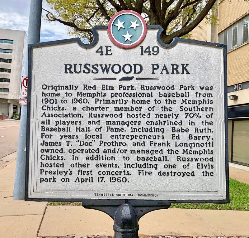 Russwood Park Marker image. Click for full size.
