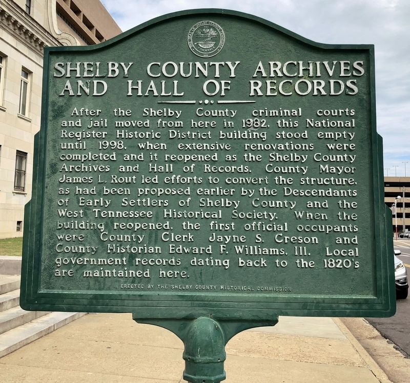 Shelby County Archives And Hall Of Records Marker image. Click for full size.