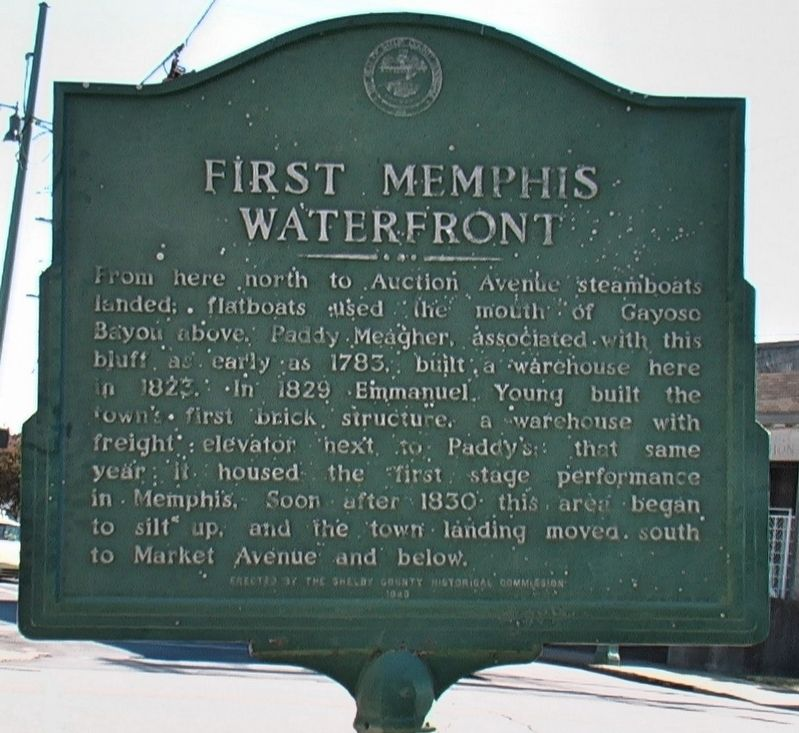 First Memphis Waterfront Marker image. Click for full size.