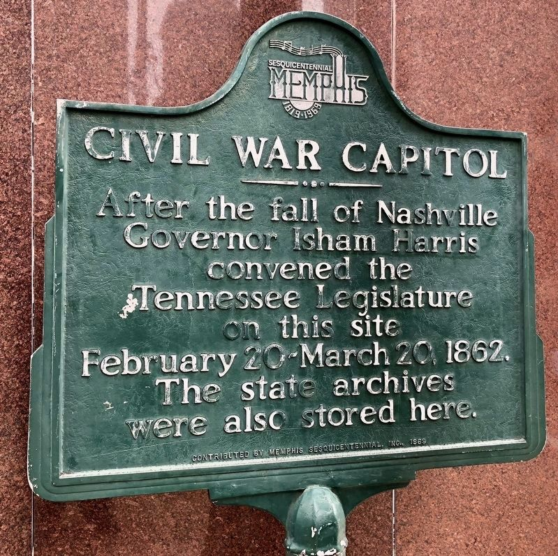 Civil War Capitol Marker image. Click for full size.