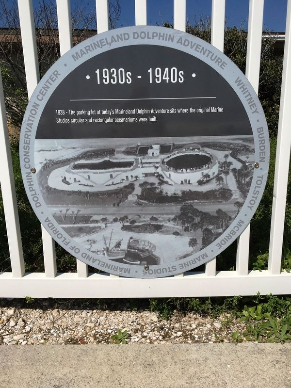 1938 - Marineland Marker image. Click for full size.