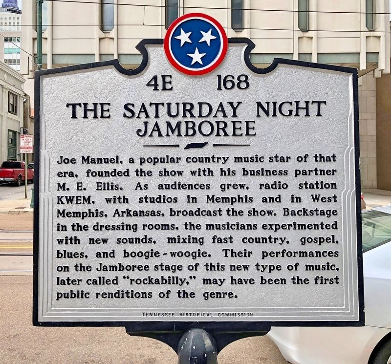 The Saturday Night Jamboree Marker (rear) image. Click for full size.