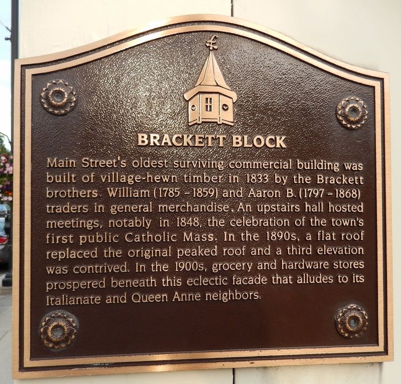 Brackett Block Marker image. Click for full size.