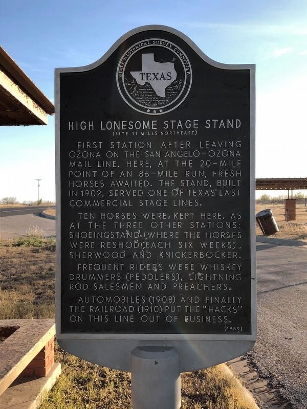 High Lonesome Stage Stand Marker image. Click for full size.