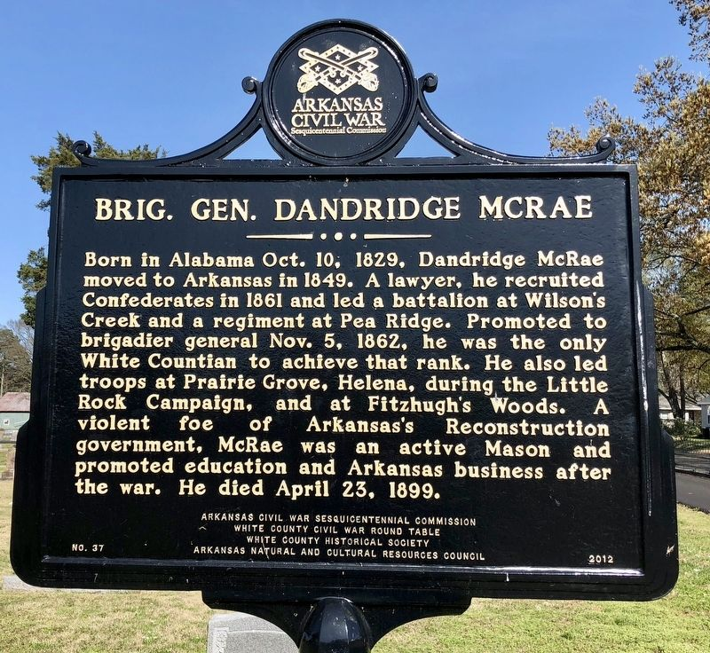 Brig. Gen. Dandridge McRae Marker image. Click for full size.