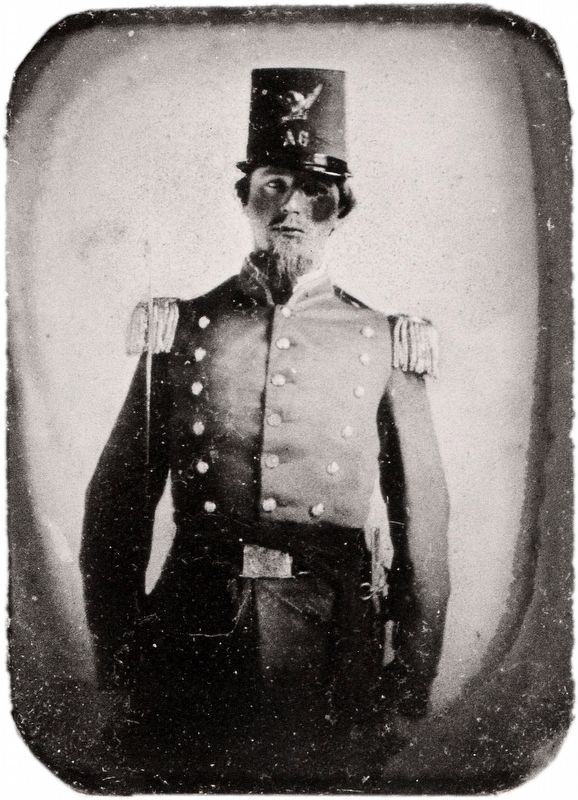 McRae in the uniform of the Arkansas Guards. image. Click for full size.
