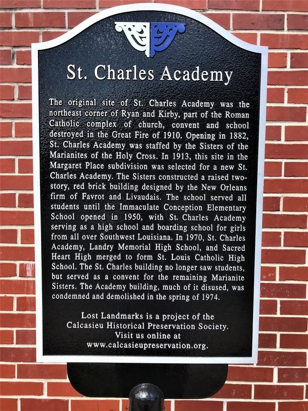 St. Charles Academy Marker image. Click for full size.